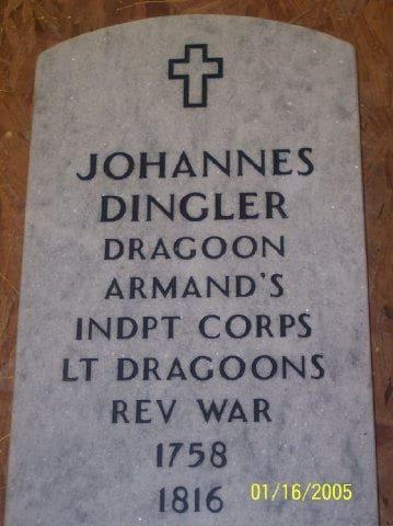 Johannes Dingler Grave Marker